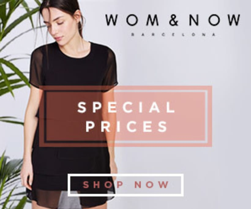 Special Prices banners for Wom&Now 2