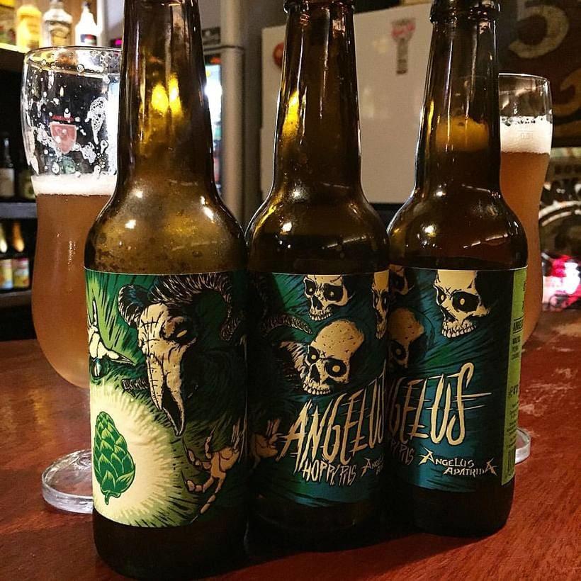 """Arte de Etiqueta para la cerveza """"Angelus Hoppy Pils"""" 3"""