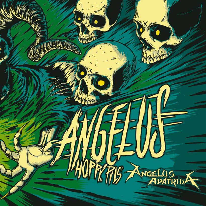 """Arte de Etiqueta para la cerveza """"Angelus Hoppy Pils"""" 1"""