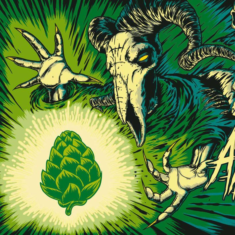 """Arte de Etiqueta para la cerveza """"Angelus Hoppy Pils"""" 2"""