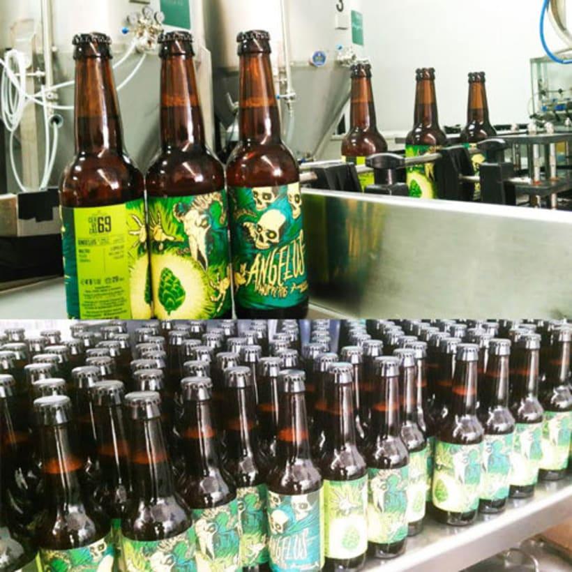 """Arte de Etiqueta para la cerveza """"Angelus Hoppy Pils"""" 4"""