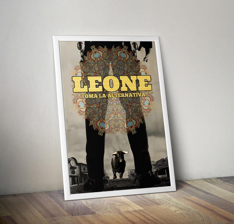 Diseño cartel concierto Leone -1