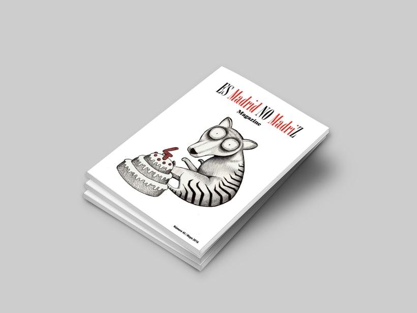 """Ilustración para la portada de la revista """"Es Madrid No Madriz"""". 0"""