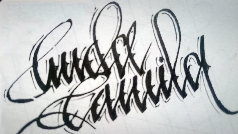 Caligrafía. 1