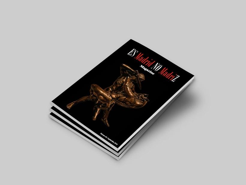 """Ilustración para la portada de la revista """"Es Madrid No Madriz"""". 5"""