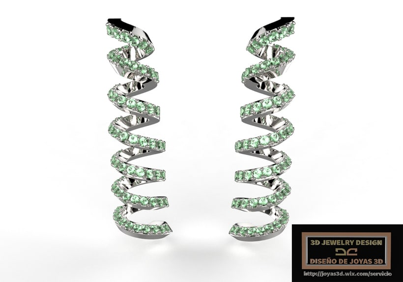 zbrush jewelry spiral earrigns -1