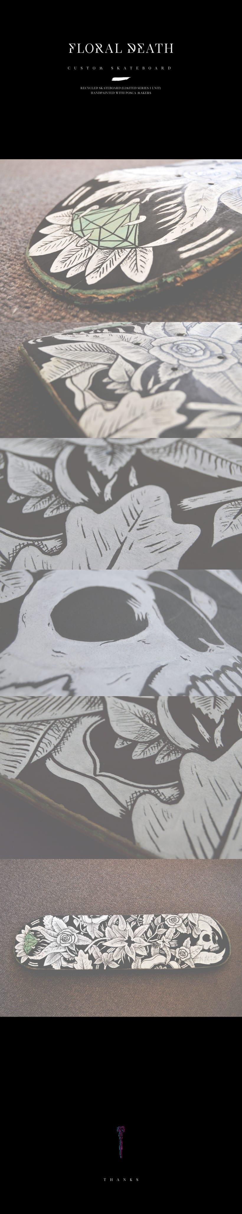 Floral Death · Custom Skateboard -1
