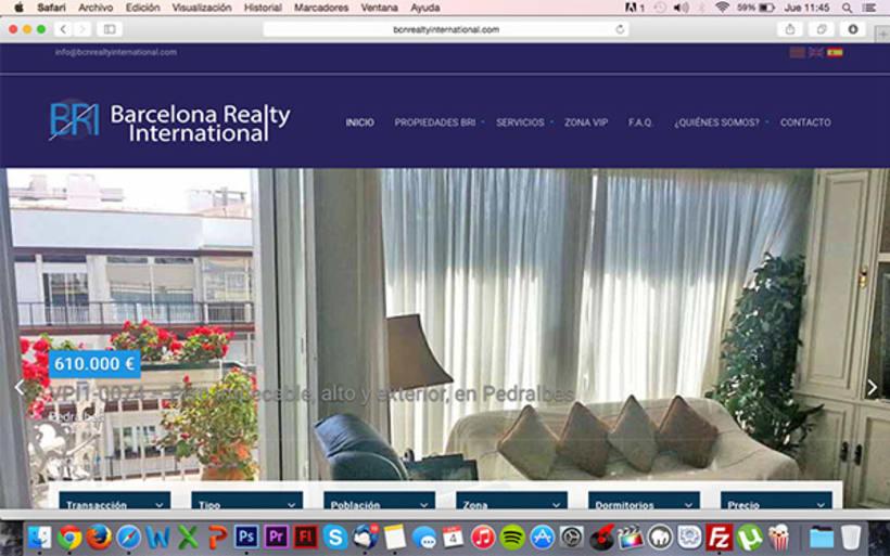 Diseño y desarrollo WEB - Barcelona Realty International -1