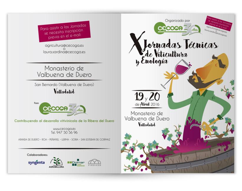 Cartelería + Programa de mano X Jornadas Técnicas de Viticultura y Enología · CECOGA S.A. · Valladolid 1