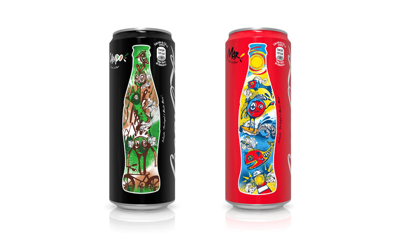 Coca-Cola Sleek Cans Illustration 1
