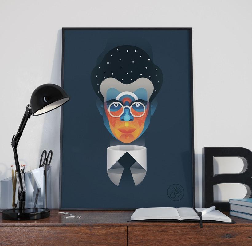 Aldous Huxley portrait 3