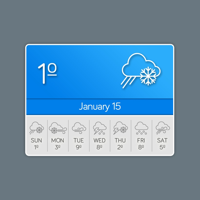 Weather Icons 3