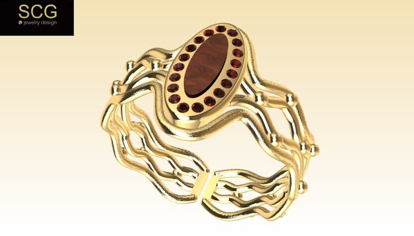 Ring with gems and other... 2