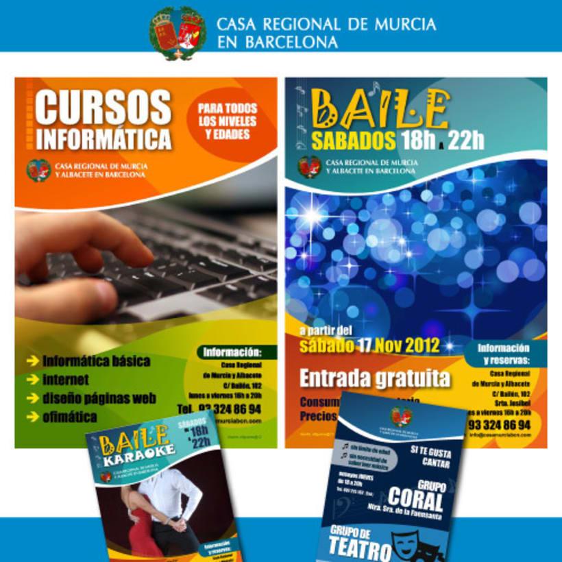 Posters publicidad Casa Regional de Murcia en Barcelona -1