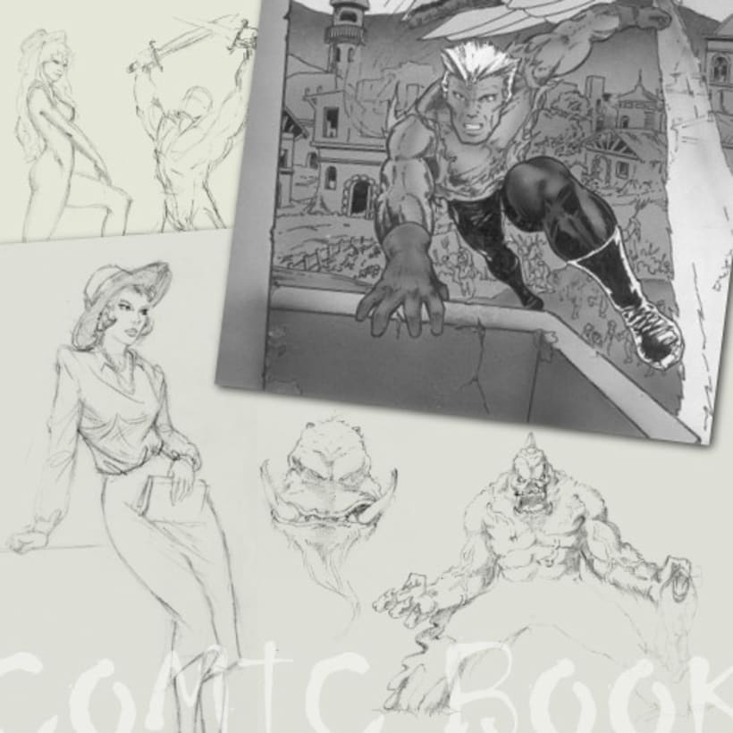 Algunos dibujos de mi época comic ! -1