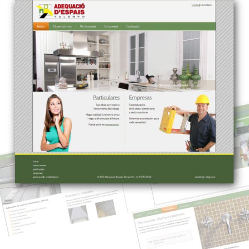 Sitio web corporativo para empresa de rehabilitación y contrucción -1