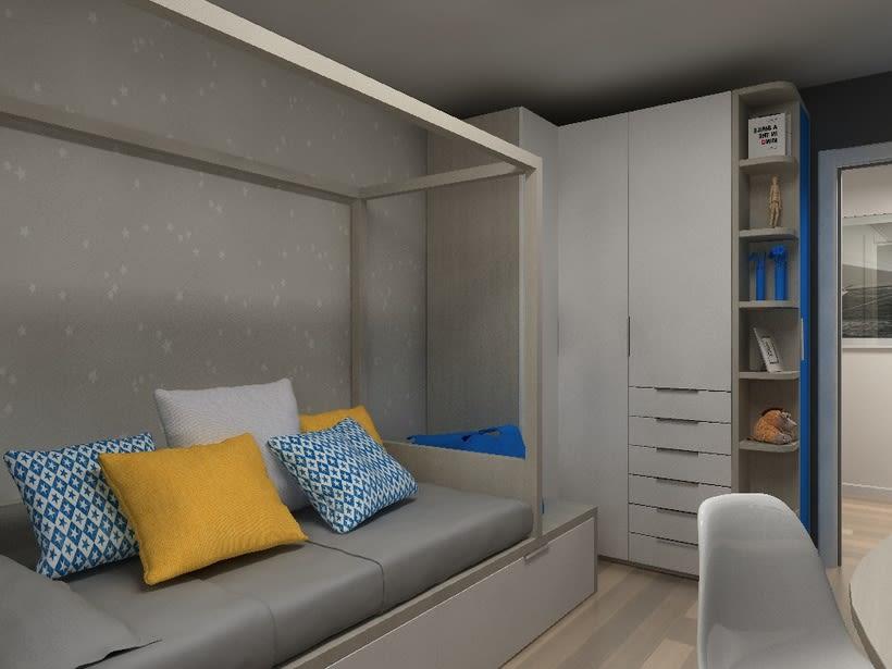 Diseño habitación juvenil 0