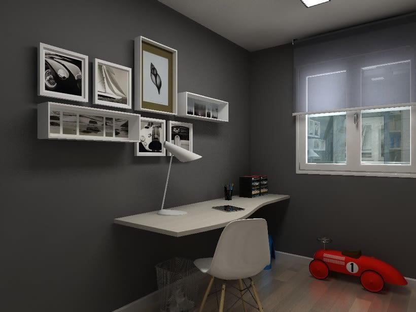Diseño habitación juvenil 1