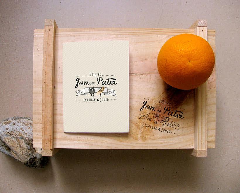 Invitación Jon&Patxi | Ilustración y Diseño gráfico -1