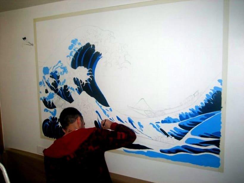 Mural: La Gran Ola de Kanagawa de Katsushika Hokusa 0