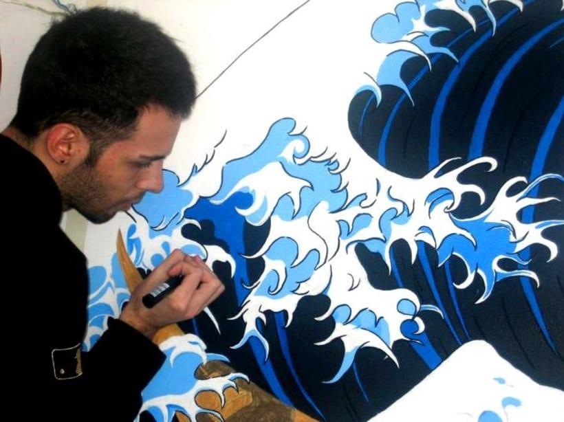 Mural: La Gran Ola de Kanagawa de Katsushika Hokusa 1