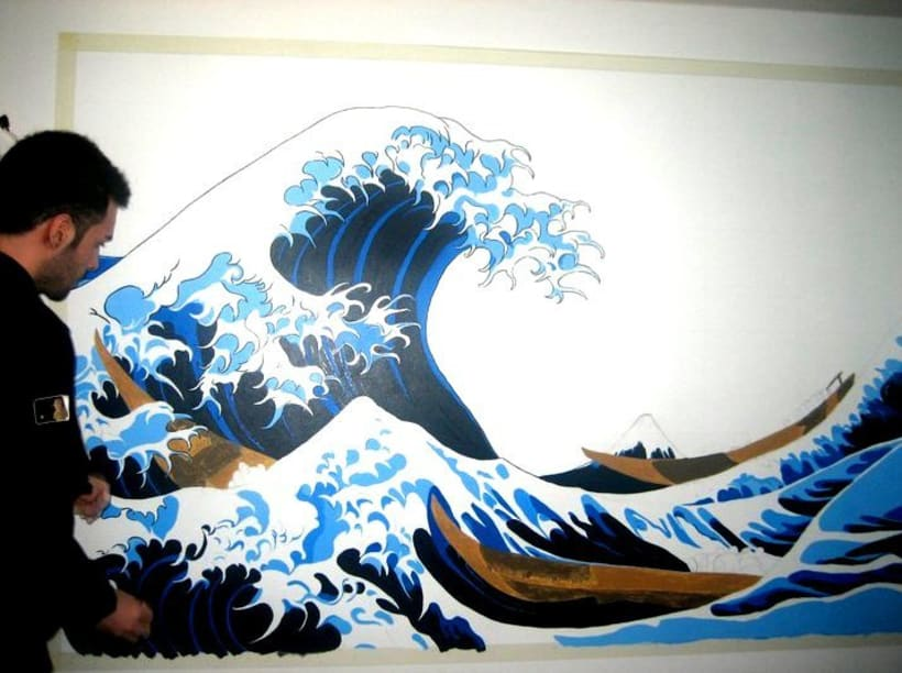 Mural: La Gran Ola de Kanagawa de Katsushika Hokusa 2