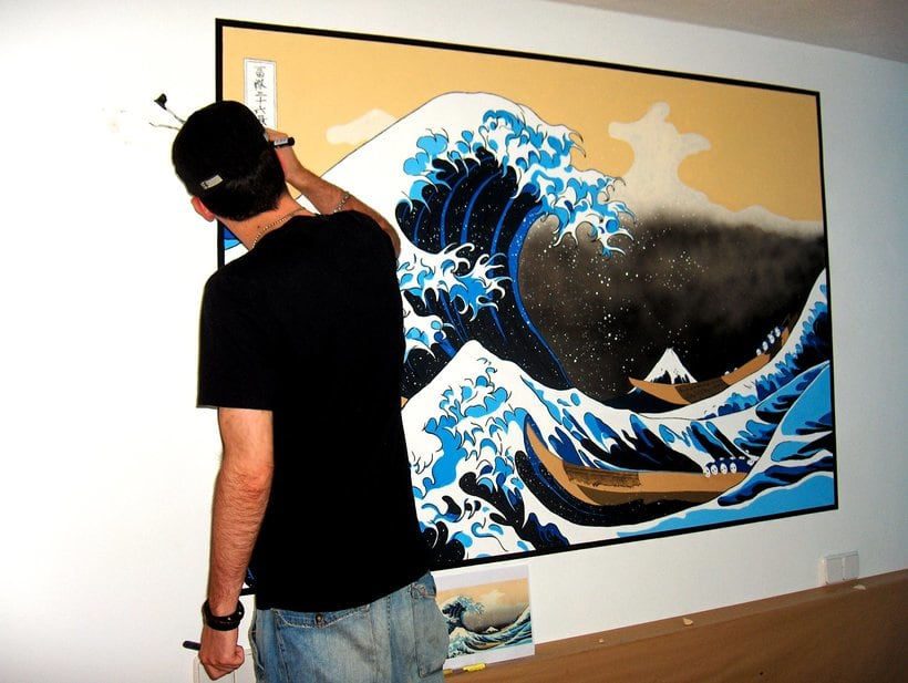 Mural: La Gran Ola de Kanagawa de Katsushika Hokusa 5
