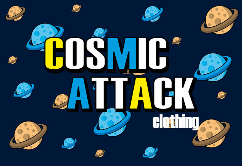 Cosmic Attack! (T-shirt project) 5