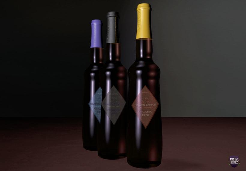 Botellas de vino orgánicos. 1