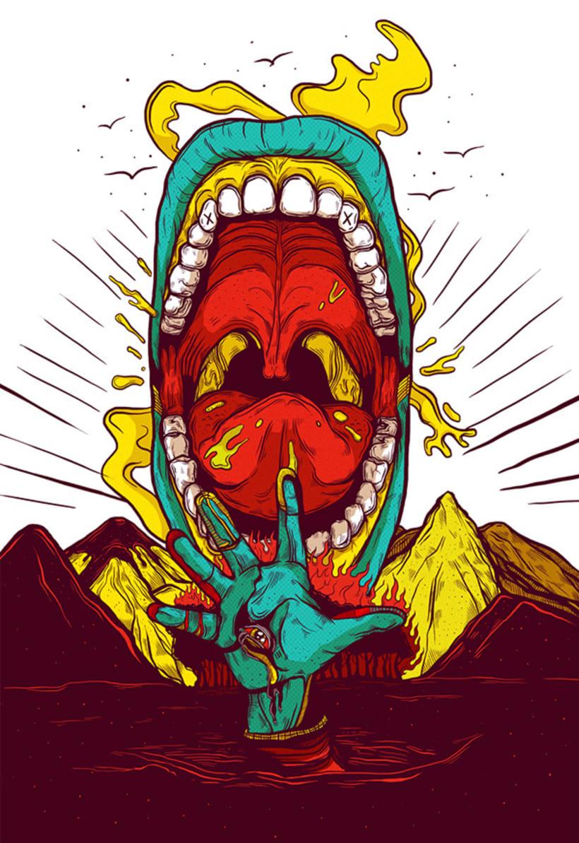 Las ilustraciones con extra de energía de Luis Pinto 1