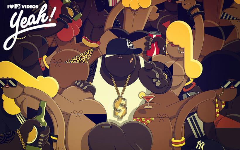 Ilustraciones con influencia pop de Nacho Rojo 4