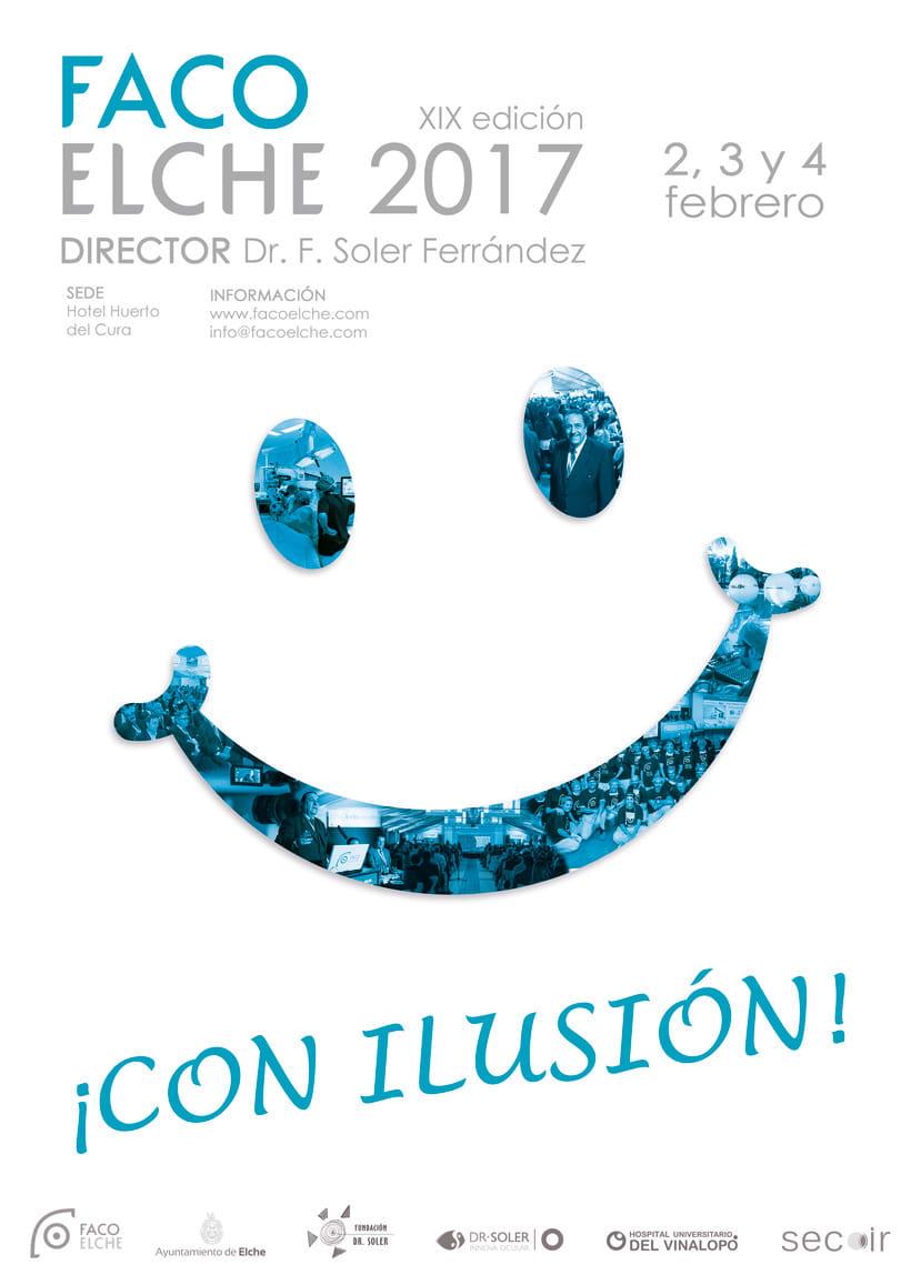 """Cartel para concurso FacoElche 2017. Propuesta 2 - """"La sonrisa de todos""""  -1"""