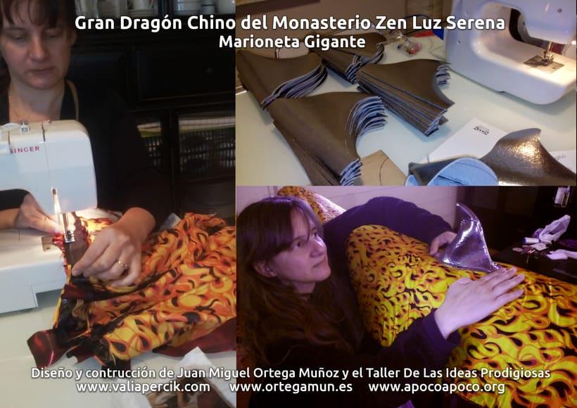 Gran dragón chino del Monasterio Zen Luz Serena. Marioneta gigante 7
