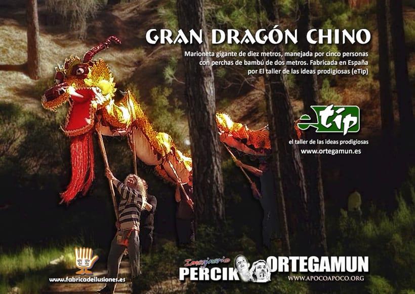 Gran dragón chino del Monasterio Zen Luz Serena. Marioneta gigante 0