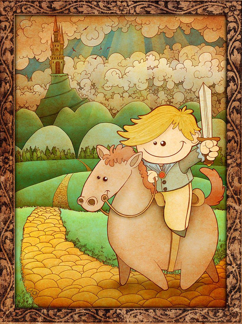 """Ilustración """"Caballero andante"""" -1"""
