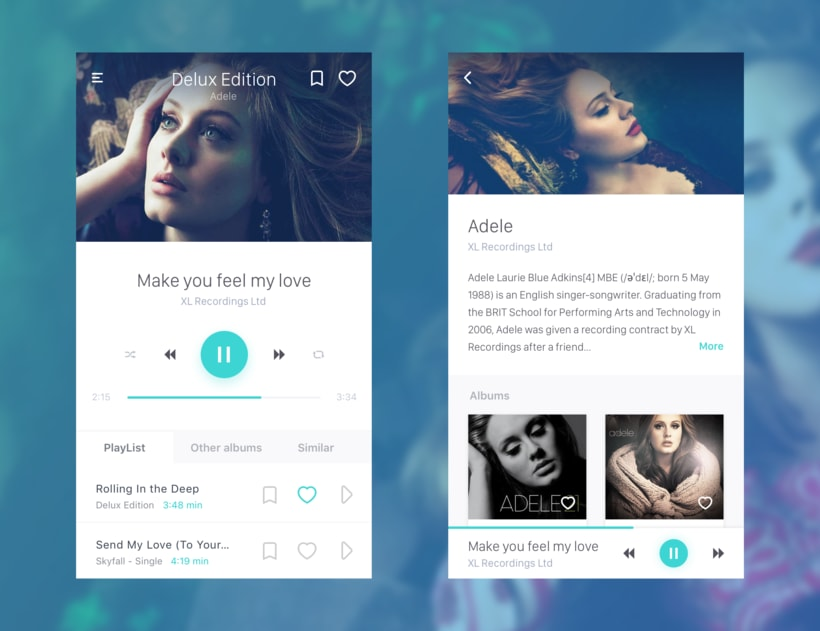 Music Player :: Daily UI Challenge #009 -1
