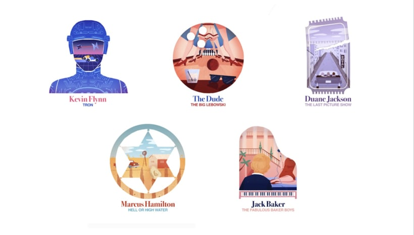 Illustrated Jeff Bridges Characters 2