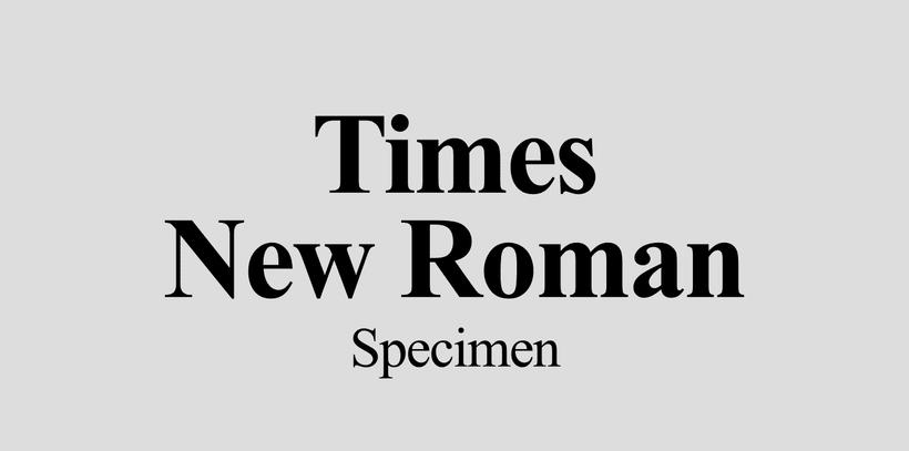Times New Roman | Specimen -1