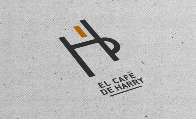 Branding Logotipo El Café de Harry 0