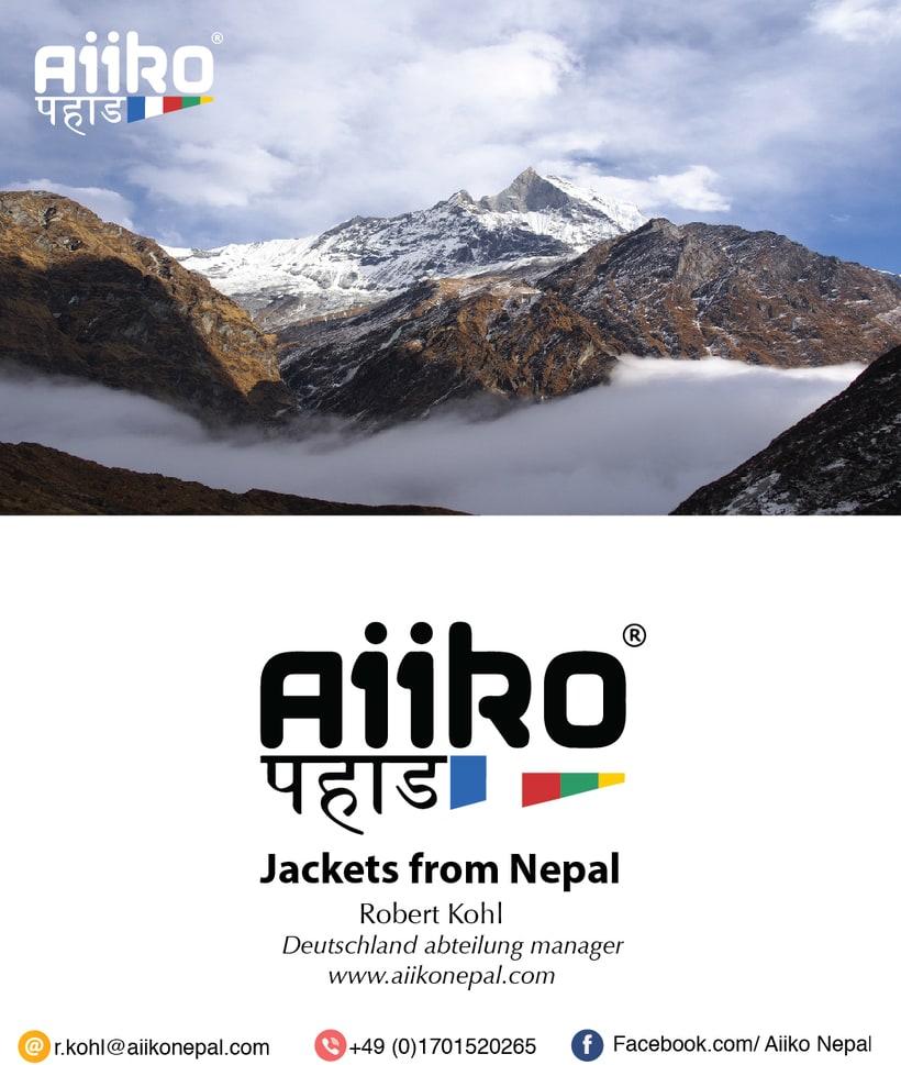 Targetas visita para textil en Nepal 0