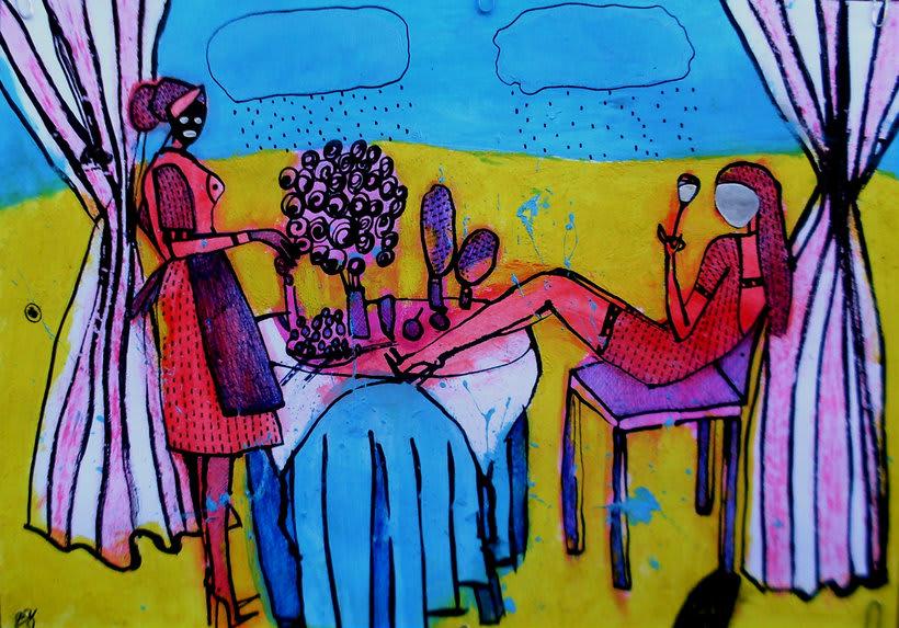 """illustracion """"el desayuno de sol"""" -1"""