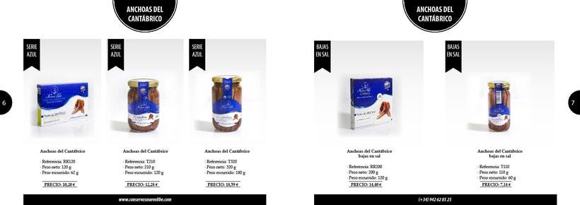 Propuesta de catálogo de productos para Nuevo Libe 3