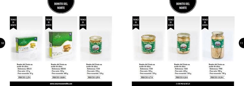 Propuesta de catálogo de productos para Nuevo Libe 5