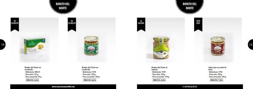 Propuesta de catálogo de productos para Nuevo Libe 7