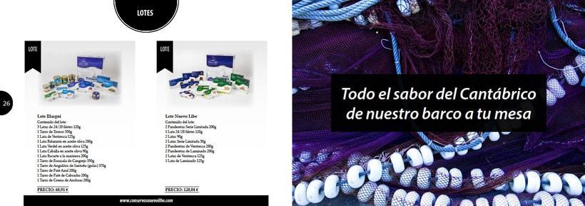 Propuesta de catálogo de productos para Nuevo Libe 13