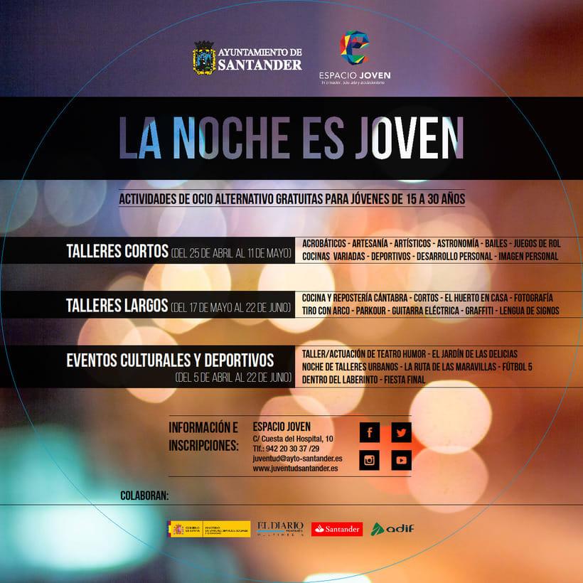 """Propuesta de productos gráficos para la campaña """"La Noche es Joven"""" 1"""