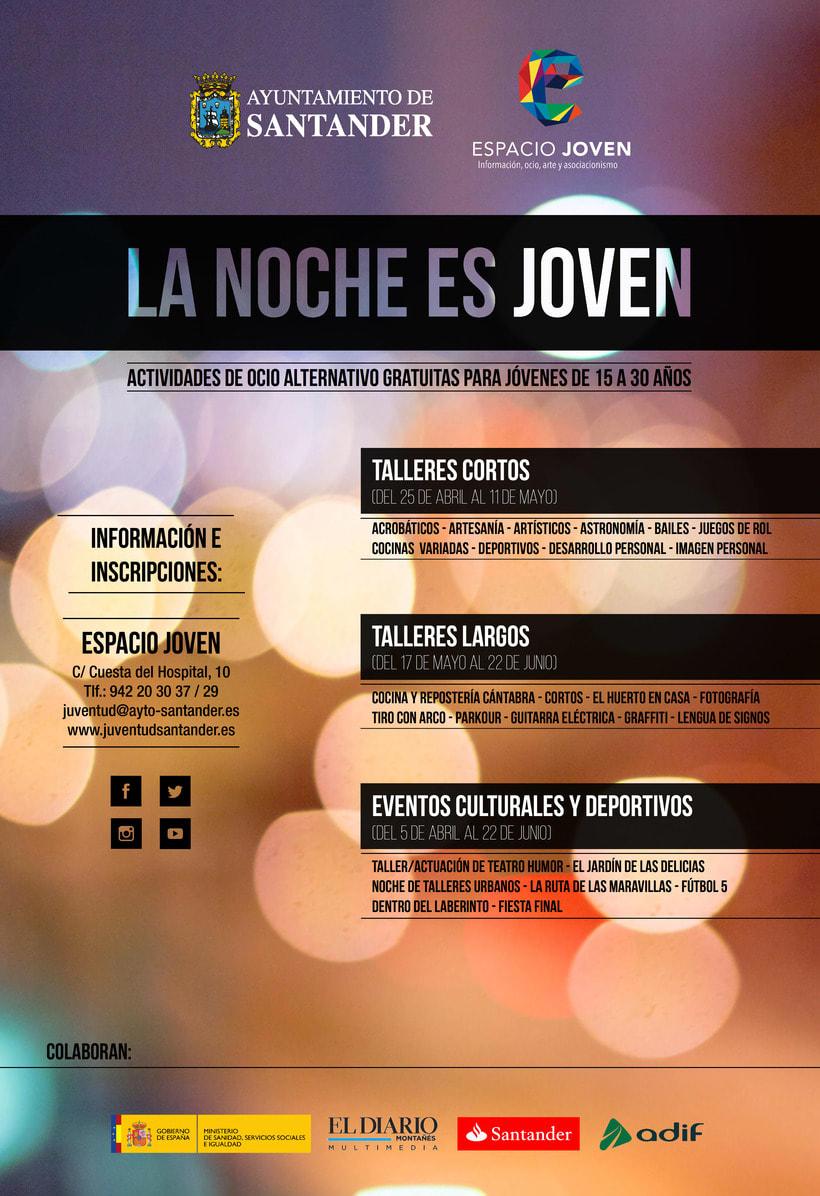 """Propuesta de productos gráficos para la campaña """"La Noche es Joven"""" 3"""
