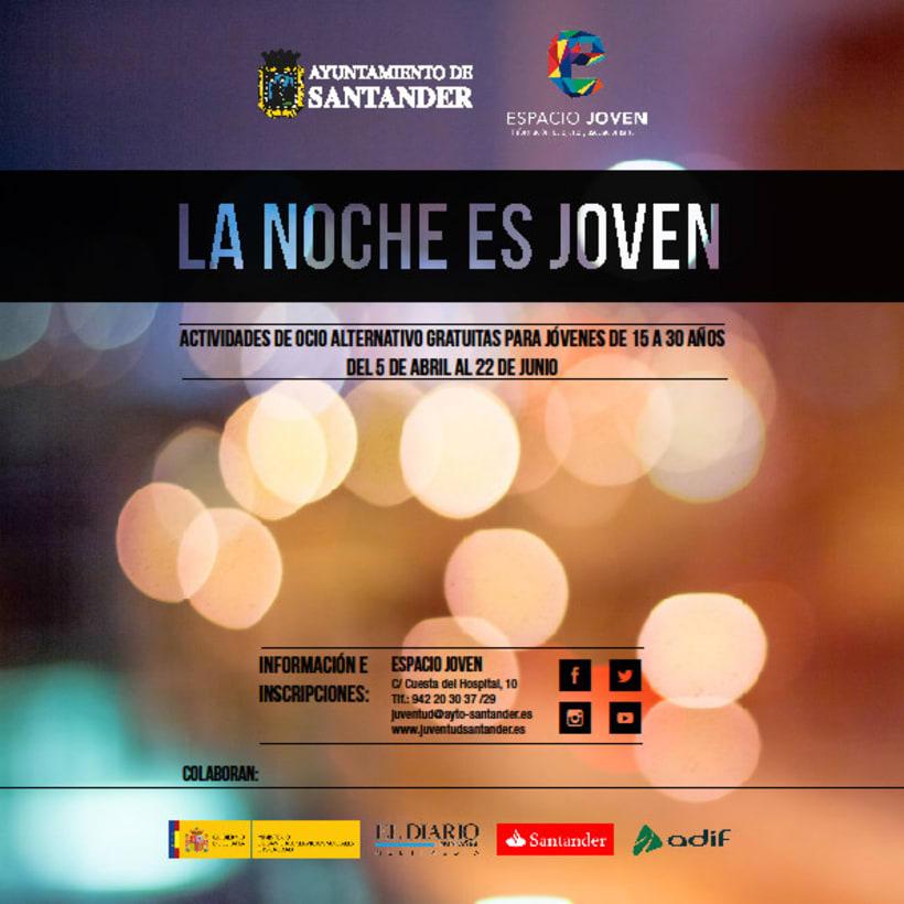 """Propuesta de productos gráficos para la campaña """"La Noche es Joven"""" 5"""