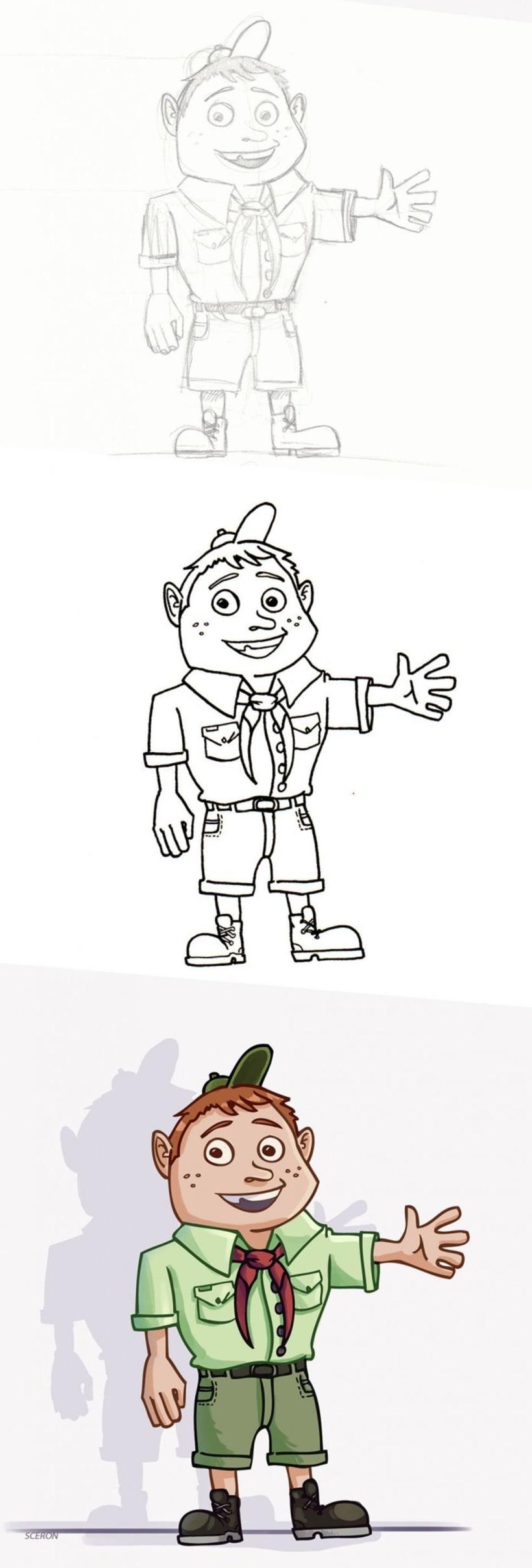 Diseño de personajes varios 1