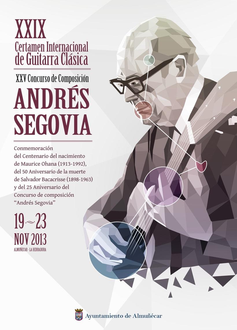 Cartel para Certamen Andrés Segovia 0